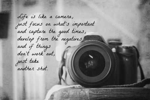 Life is like a camera quote print photography black white home decor wall art photographer gift print camera lens
