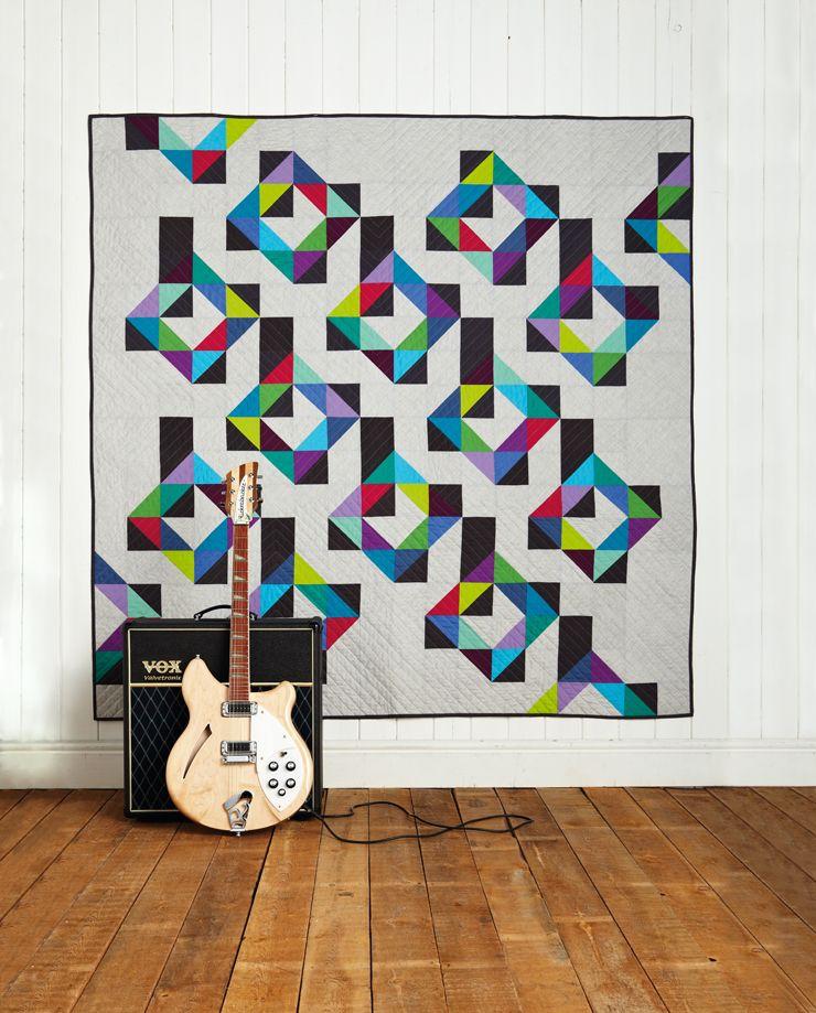 Tetris geometric quilt for men by Susan Standen   Love Patchwork ... : men quilting - Adamdwight.com