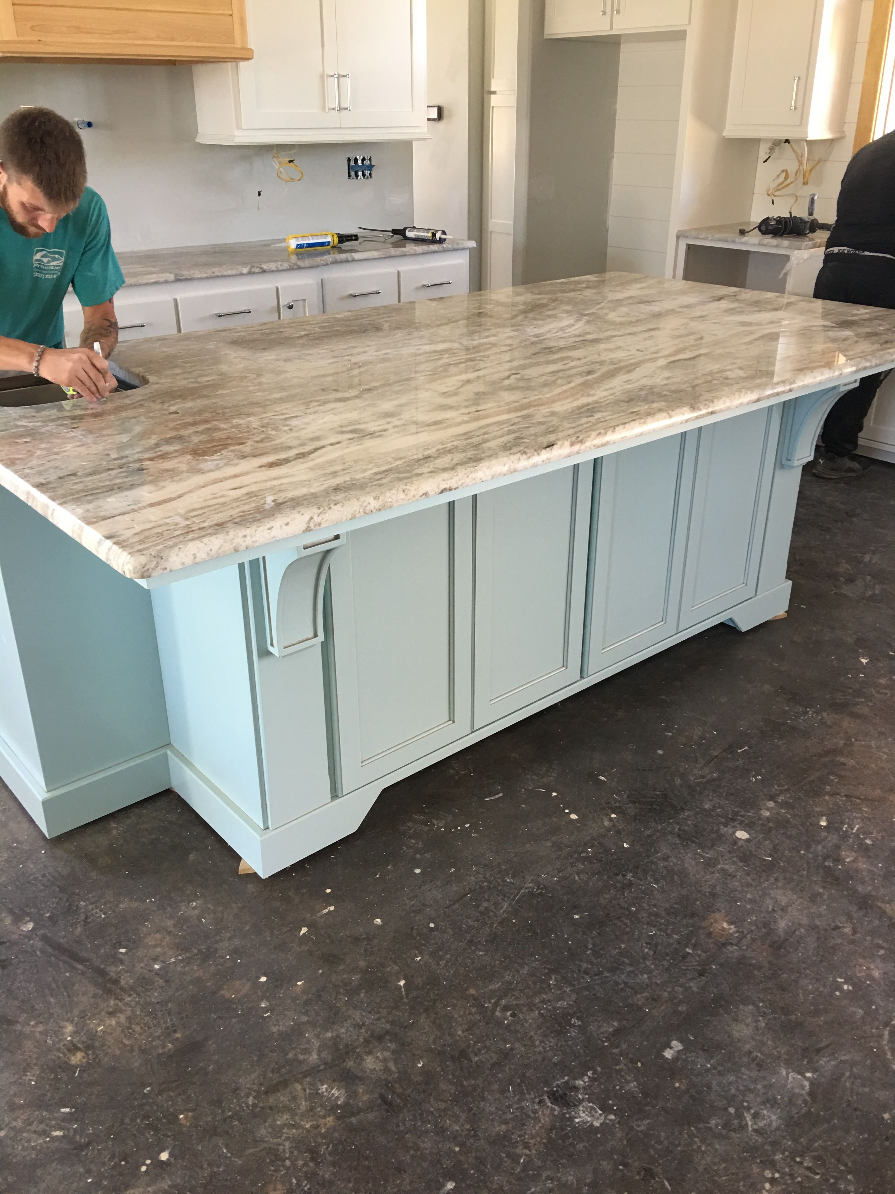 Best Kitchen Island Fantasy Brown Granite Installation 3 Cm 400 x 300