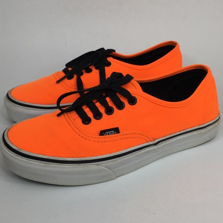 Vans Shoes | Vans Authentic Off The Wall Neon Orange | Color ...