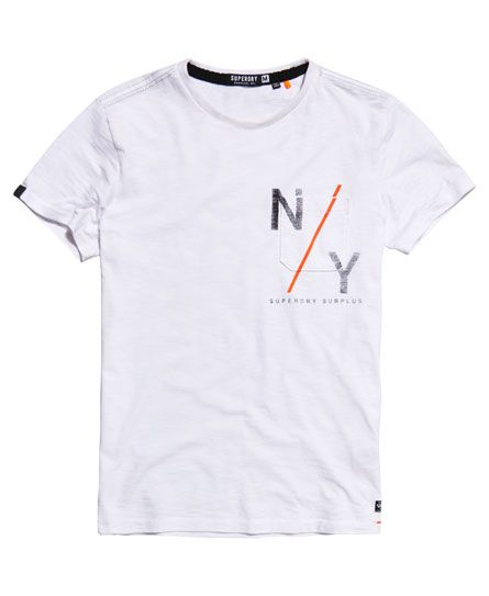 Superdry Surplus Goods Graphic Pocket T-shirt White