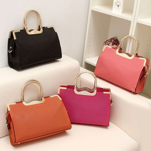 Korean Lady Women Hobo PU Leather Messenger Handbag Shoulder Bag ...