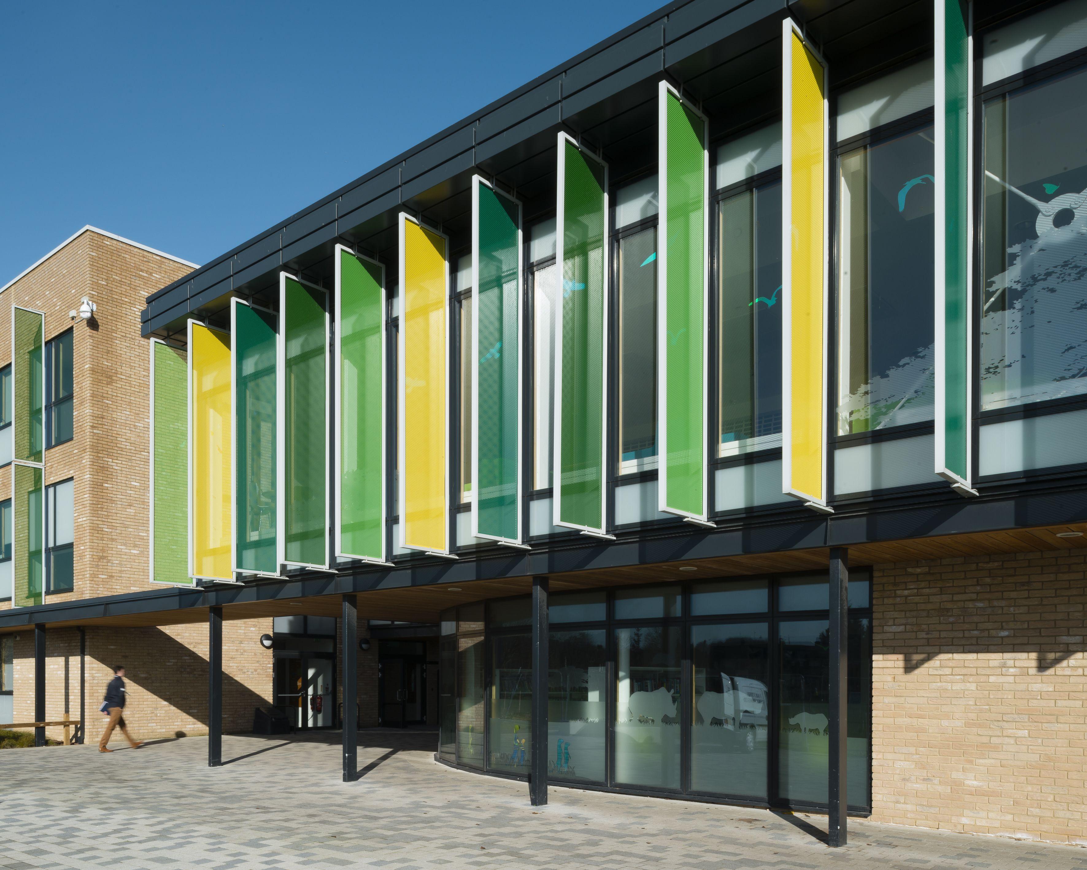 external canopy and brise soleil park community secondary school havant 2015 hampshire - Terra Cotta Tile Canopy 2015