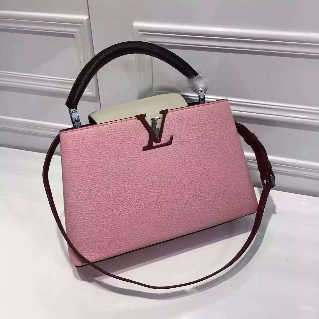 Louis Vuitton Grained Calfskin Multicolor Capucines PM Bag Capucines  Designer Bags For Less, Handbags Online e41ac86d5e