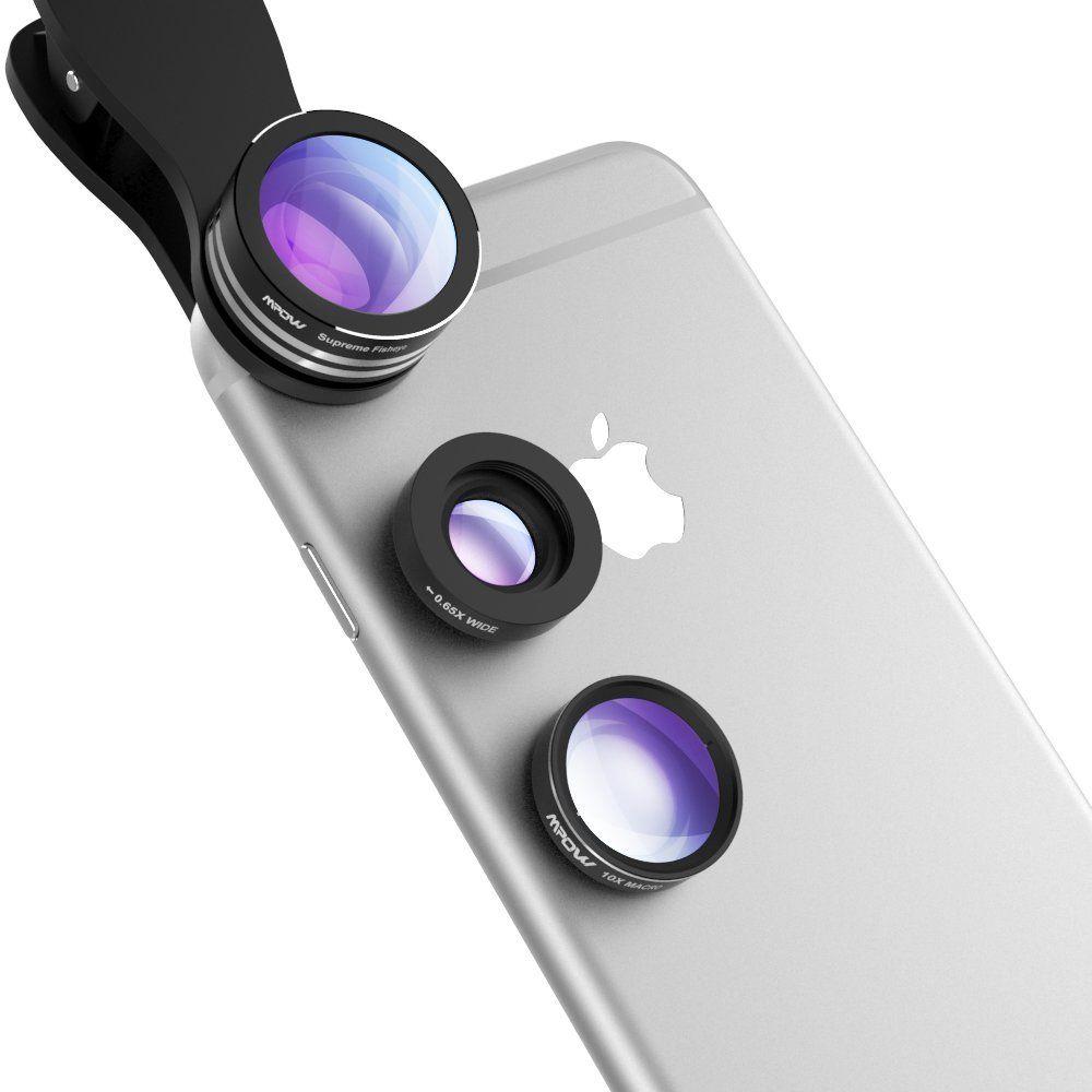 Lenti smartphone mpow 3 in 1 lenti kit clipon lente