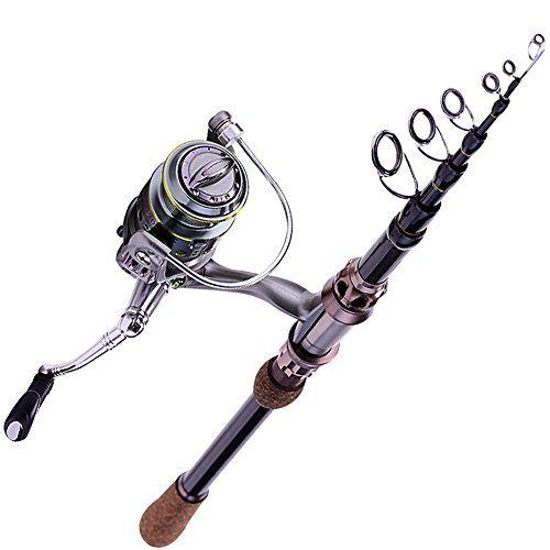 Sougayilang Portable Telescopic Travel Spinning Fishing Rod