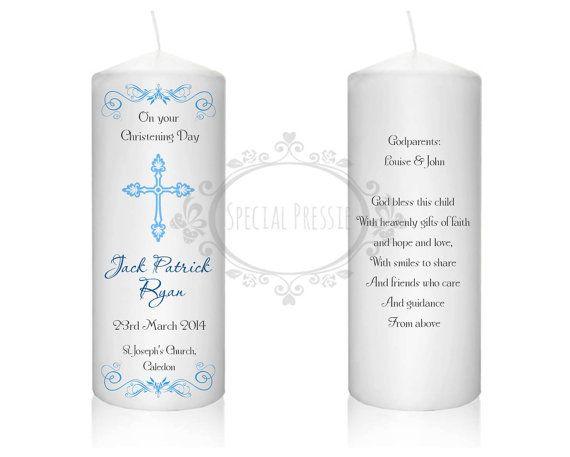 Custom christening candle-Angel