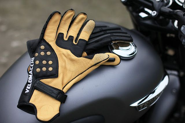 Gear Review - Velomacchi Speedway Gloves via www.returnofthecaferacers.com