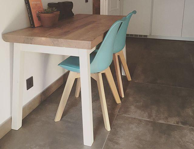 Mesa de estilo mediterráneo de madera reciclada de pino | Mesas ...