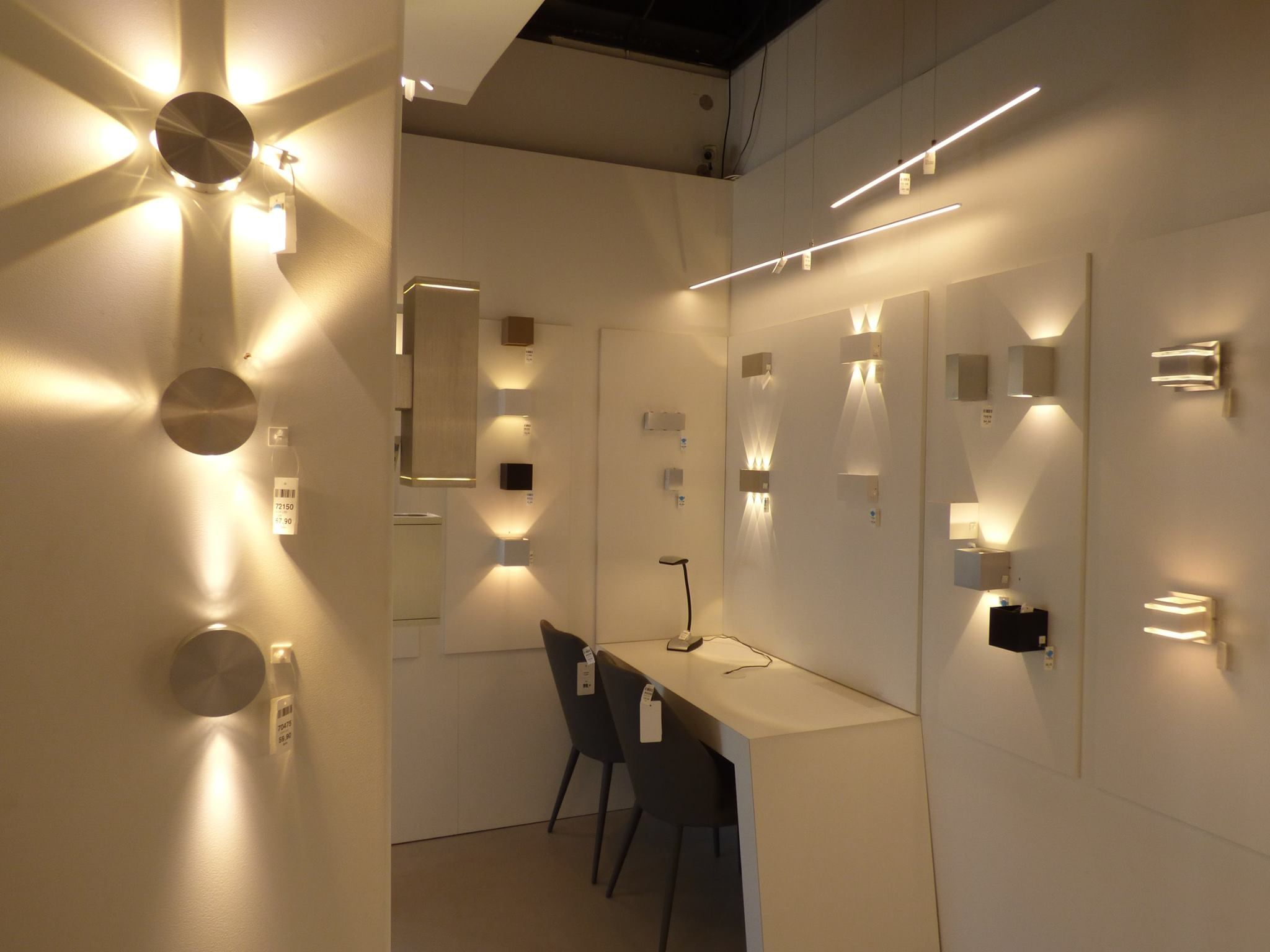 Iluminaci n showroom tienda interior l mparas interior sala dormitorio l mparas led - Focos iluminacion interior ...