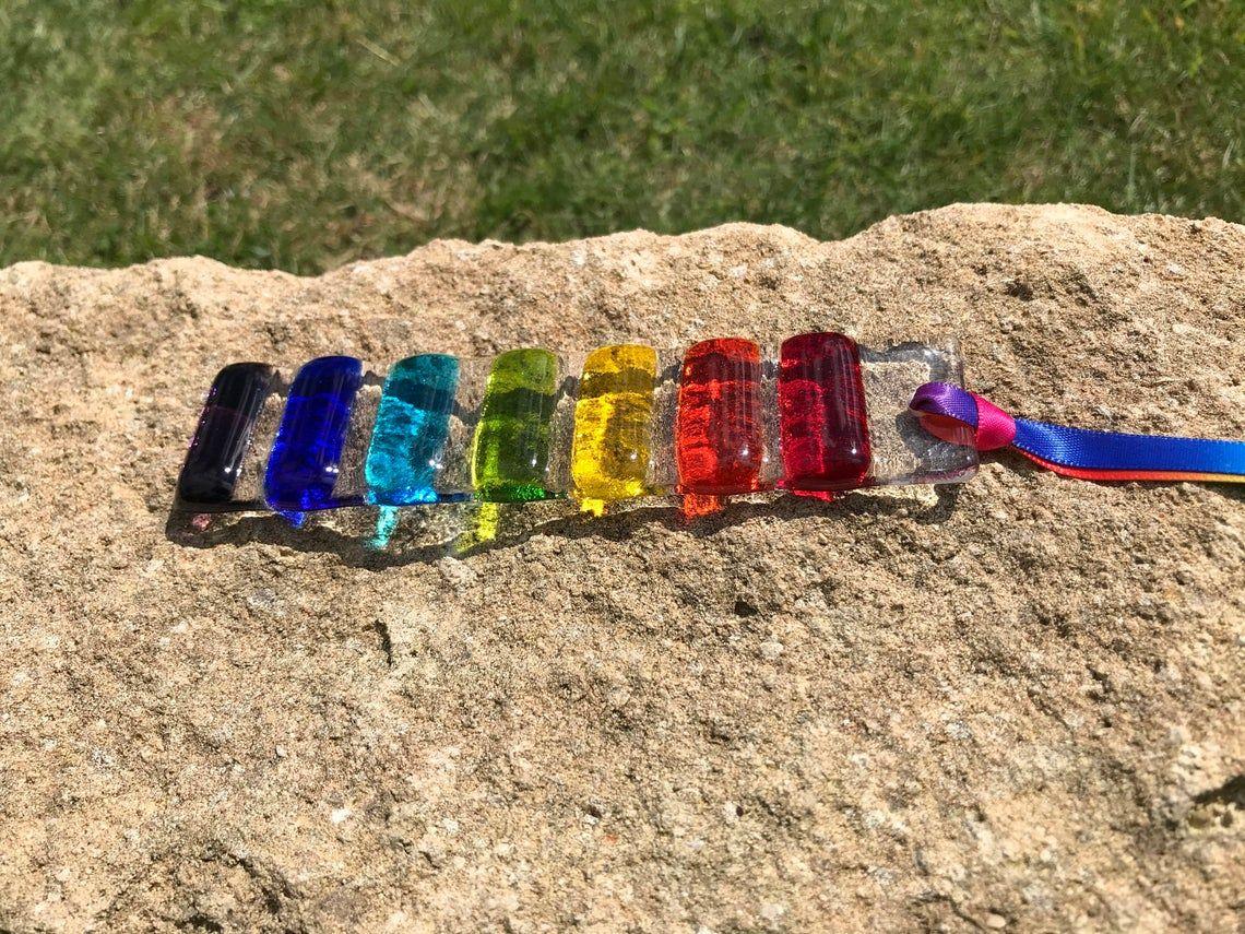 Small Rainbow Fused Glass Sun Catcher