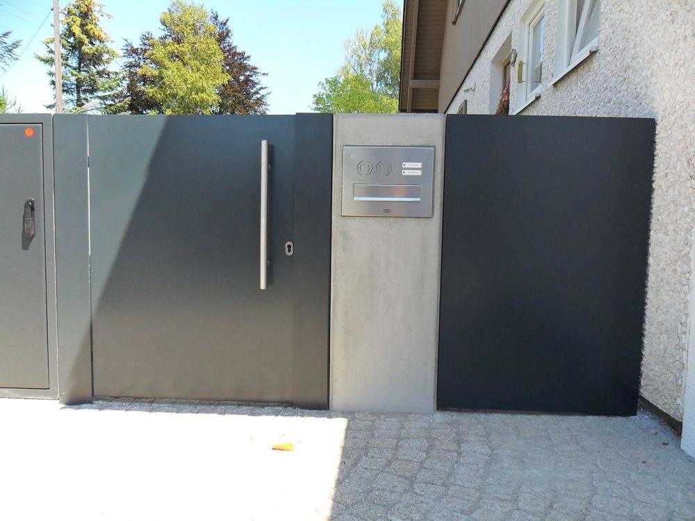 eingangstor von au en t ren und tore zaun eingangstor und einfahrtstor. Black Bedroom Furniture Sets. Home Design Ideas