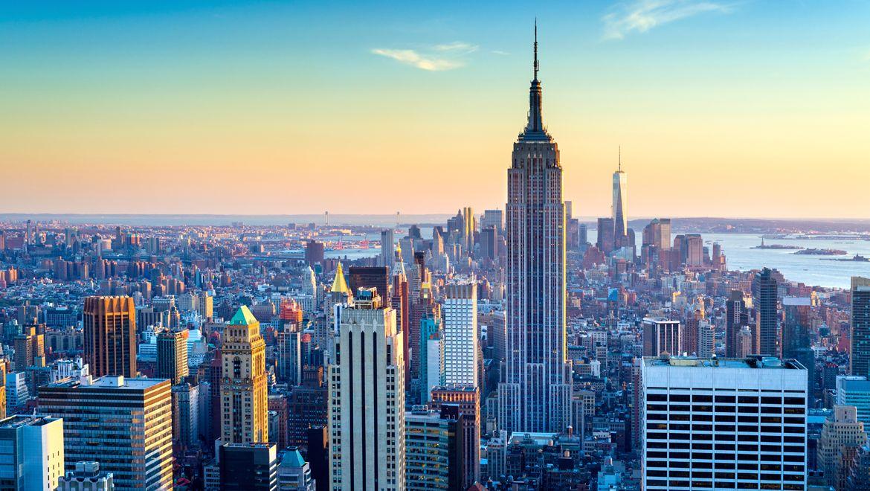Amazing New York Skyline With Hd Windows Wallpaper Themes With New York Skyline Download Hd Wallpaper