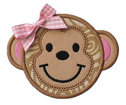 Free Applique Templates Gg Designs Embroidery Monkey Face