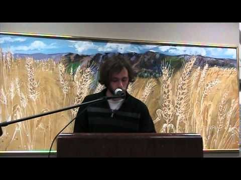 Elliot Scheekle reads during Helicon West at the Logan Library December 4, 2014 - You Tube.