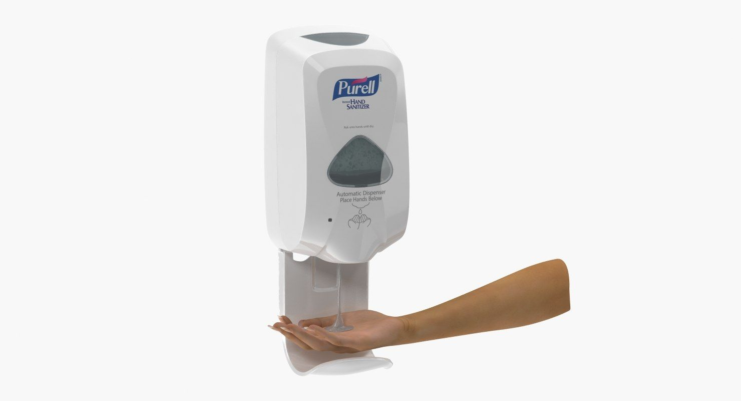 3d Sanitizer Dispenser Hand Model 3d Anatomy Model Hands