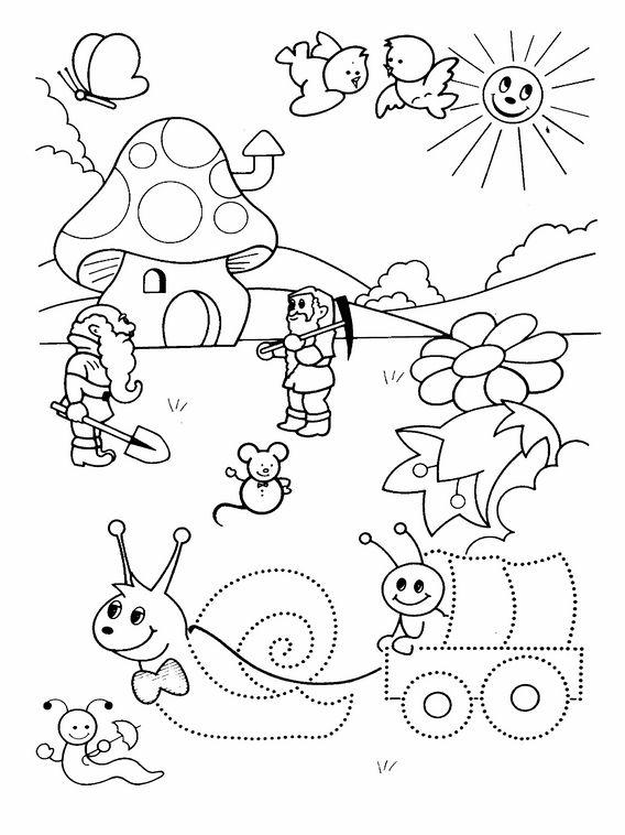 Aktivitäten für Kinder. Druckbare Übungen Verbinde die Punkte für ...