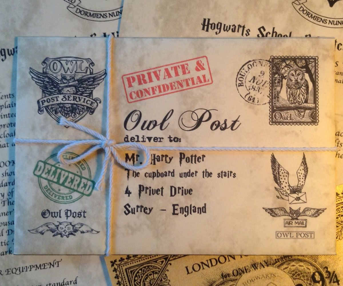 Hogwarts Acceptance Letter Personalized with a by