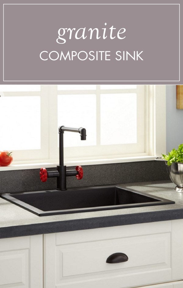 Made Of Granite Composite This Signature Hardware Product Is Durable And High In Quality The Black Color Gives Holcomb