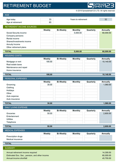 Retirement Checklist Template from i.pinimg.com