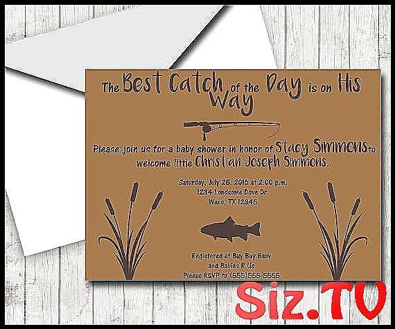 Fishing Theme DIY Baby Shower Invitation Outdoors