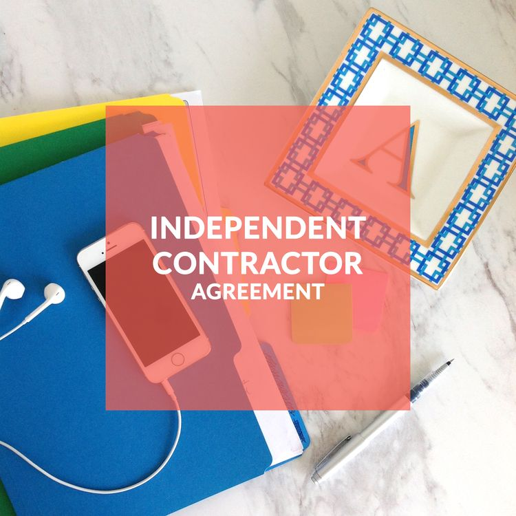 Independent Contractor; Template Contract; Agreement; Contract - independent consulting agreement