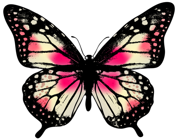 large pink butterfly png clip art image art and inspiration rh pinterest com monarch butterfly clipart images monarch butterfly clipart images