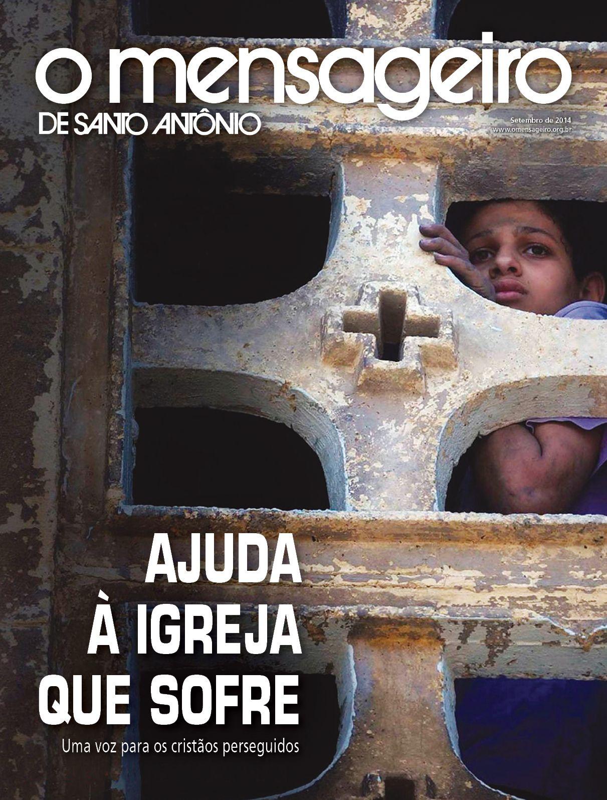Capa da Revista O Mensageiro de Santo Antônio Setembro de 2014.