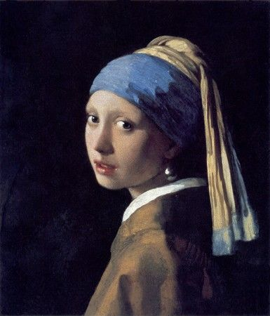 Vermeer__Girl_With_A_Pearl_Earring.  Gaze ou glacis