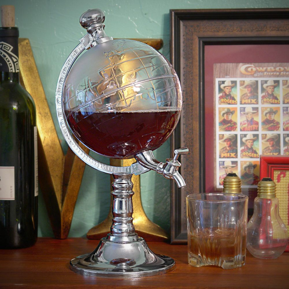 World Globe Liquor Dispenser Details Add A Touch Of Charm And Global Grace To Your Next Hy Hour With This
