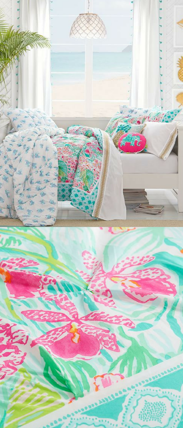 Lily Pulitzer Girls Bedding With Vibrant Prints And Bright Colors