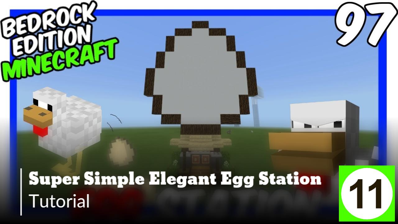 Super Simple Elegant Egg Station Bedrock Edition https