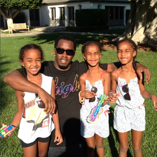 The beautiful daughters of P. Diddy in all of their braided glory.