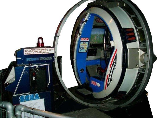 Voici une des bornes d'arcade pour Afterburner ultra collector car celle ci ne se contente pas de faire de looping , elle tourne dans tout les sens à 360°