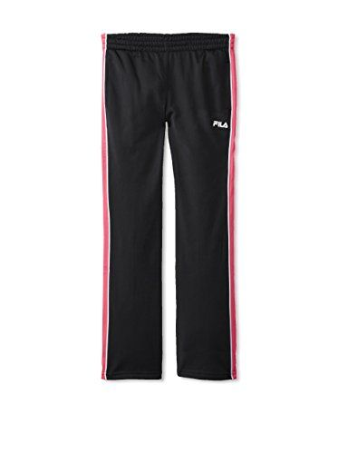 8b0a6c2323218 Fila Girl's Tricot Pant (Black) Black Pants, Kids Fashion, Sweatpants, Black