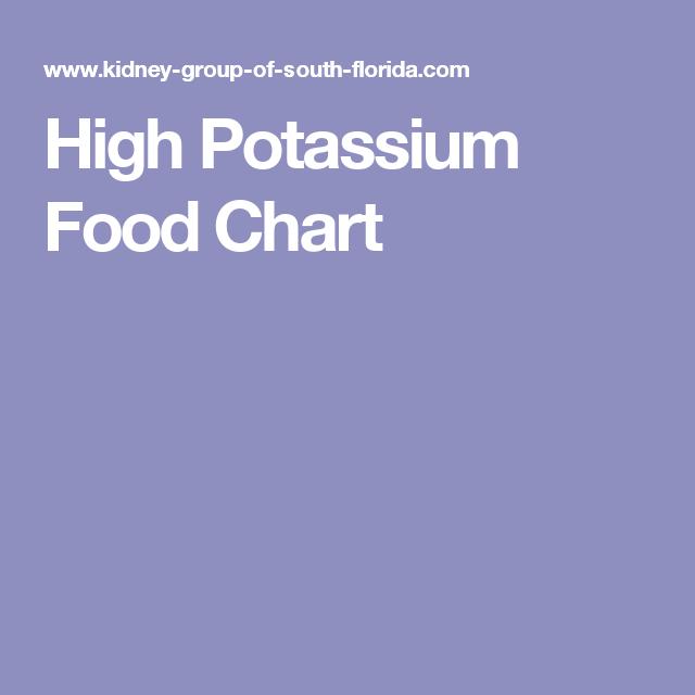 High Potassium Food Chart  Potassium Lists    High