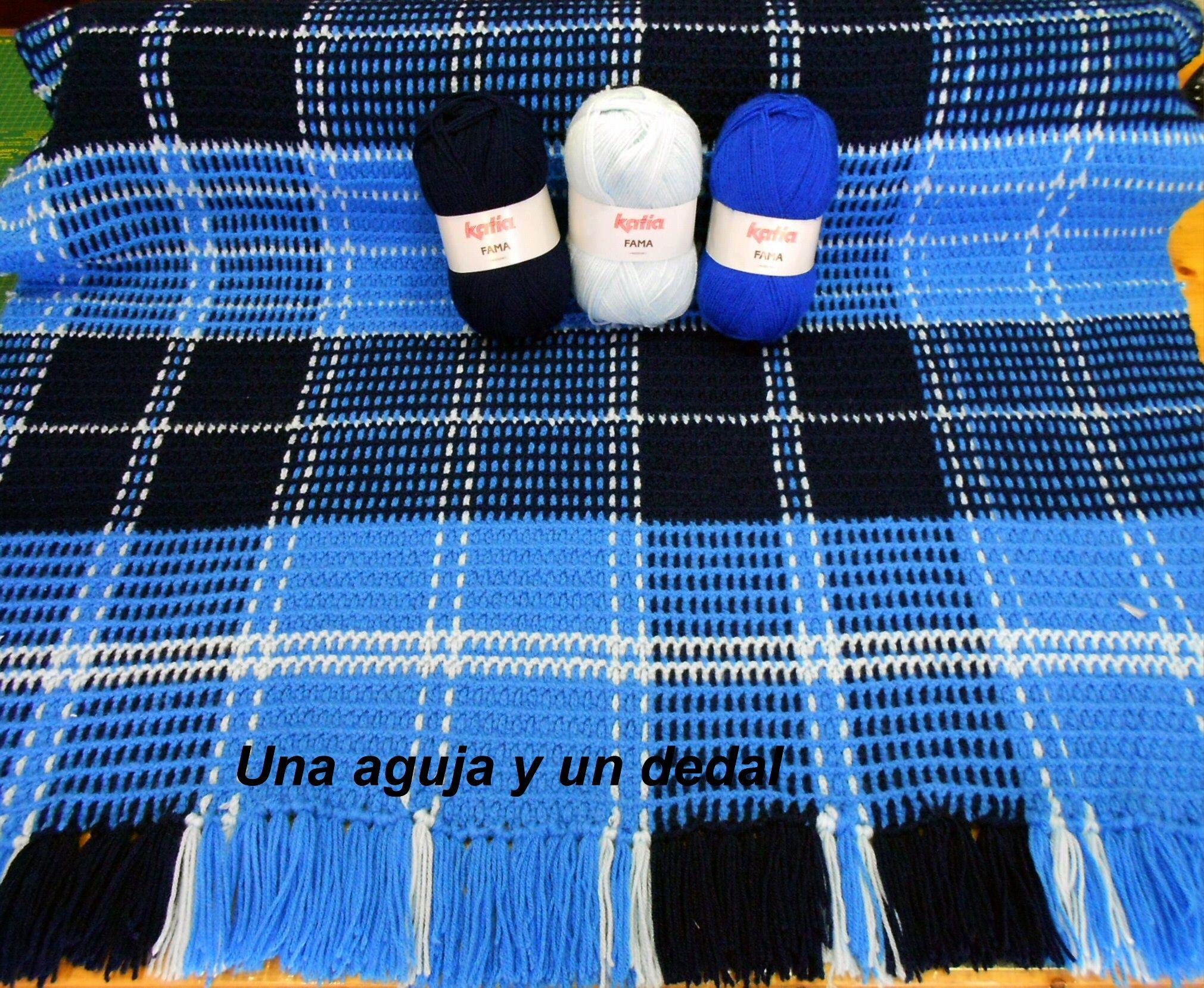 Tutorial para hacer manta escocesa tartan a ganchillo - Mantas de ganchillo para sofas ...