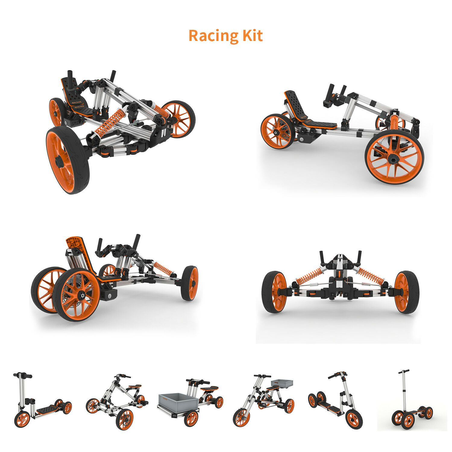 Details About Docyke Creative Rides For Kids 10in1 Racing Kit