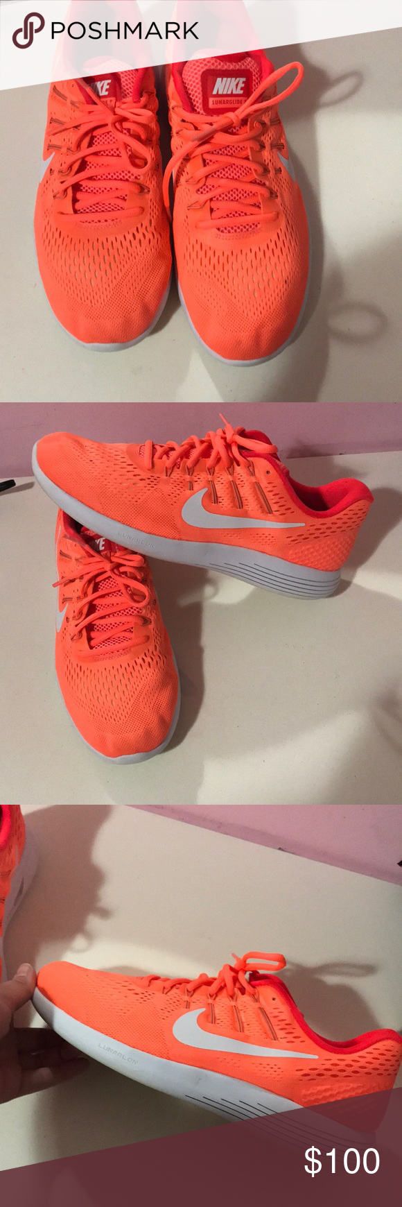 check out 323fc 78d21 Neon orange nike lunar glide 6 shoes Perfectly clean nike lunar glide 6  women s size 11. From a smoke free home and in perfect condition!!