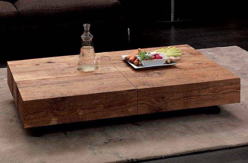 mesa de centro convertible en mesa de comedor moderna box | deseo