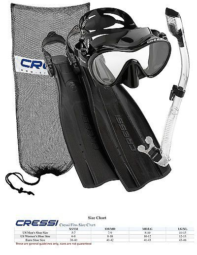 Fins 16054 Cressi Pro Light Open Heel Diving Fins Frameless Mask Scuba Snorkel Set Black Buy It Now Only 84 99 On E Snorkel Set Open Toed Heels Golf Bags