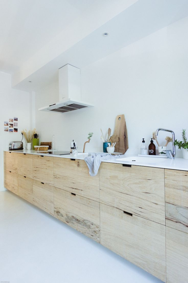 my scandinavian home: Rough wood kitchen featured in the interior ...