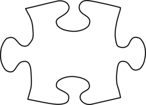 Jigsaw White Puzzle Piece Large Clip Art   Bulletin Board Ideas ...
