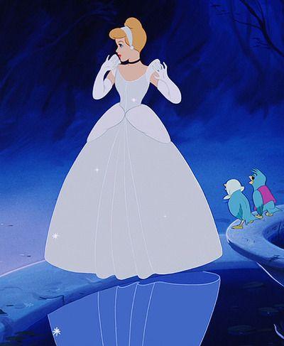 Cinderella - Walt Disney (1950) - A dress cleans up but ...