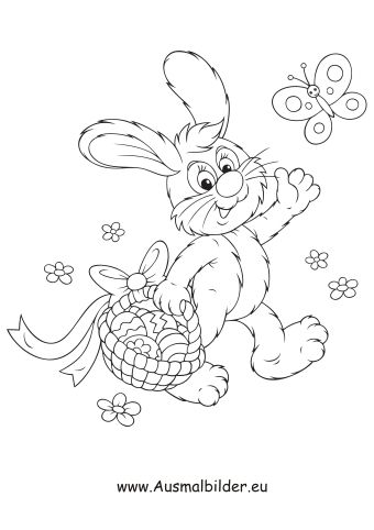Ausmalbilder Osterhase Mit Korb Bunny Coloring Pages Easter Bunny Colouring Easter Coloring Pages