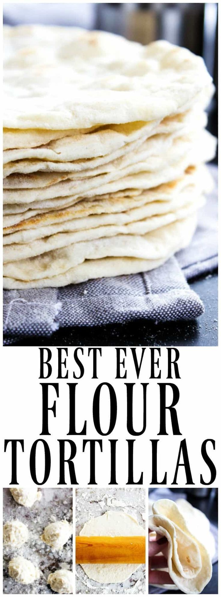 Best Ever Flour Tortillas are so easy & delicious that once you make these you'll never go back to store bought tortillas again.