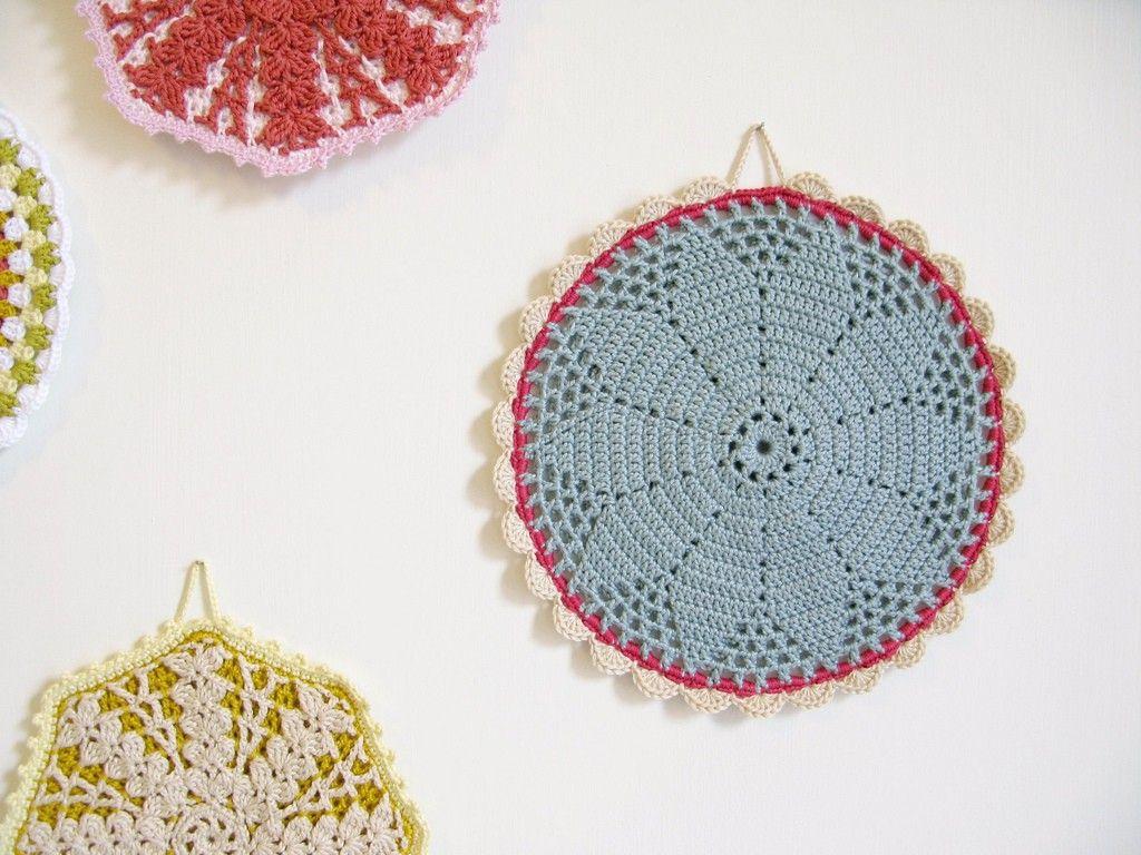 crochet pot holder | Crochet | Pinterest | Agarraderas, Cojines de ...