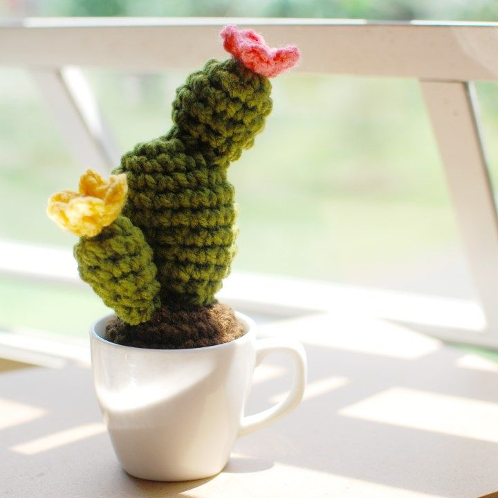Crochet Cactus In A Cup Free Pattern Patterns Pinterest Cool Crochet Cactus Free Pattern