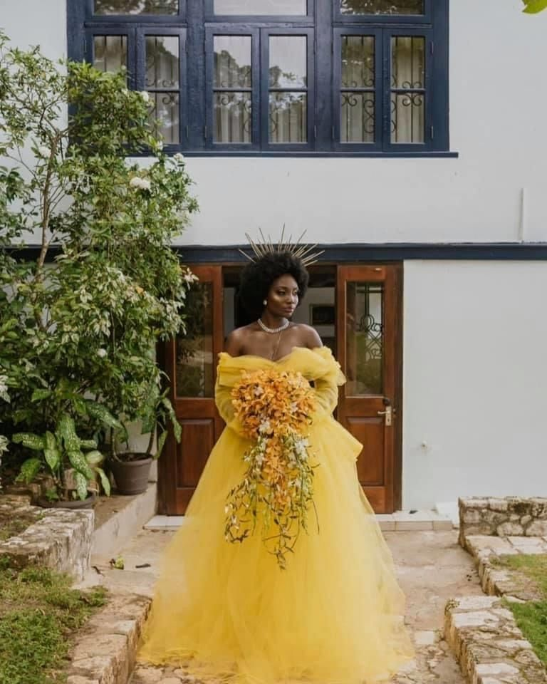 Full Too Bridal Gown Skirt In 2020 Yellow Wedding Dress Nontraditional Wedding Dress Unconventional Wedding Dress