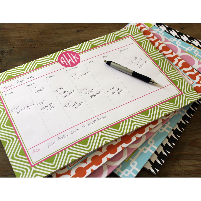 Personalized Desk Planner Organization